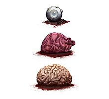 Eye Heart Brains Photographic Print