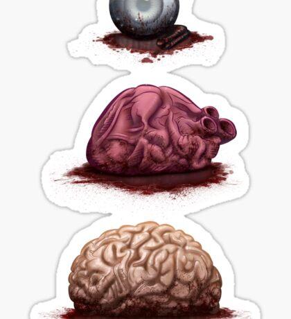 Eye Heart Brains Sticker