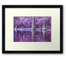 BOLD FAIRY TALE COLOR'S OF THE BAYOU Framed Print