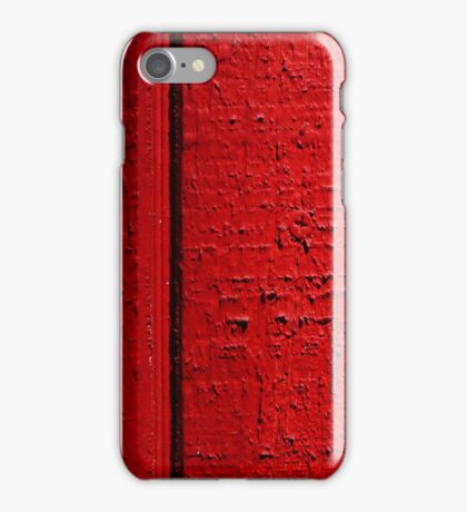 Red Wall iPhone Case/Skin
