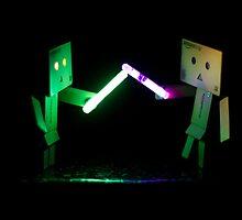 Danbo Lightsabre Battle by Toastmuncher