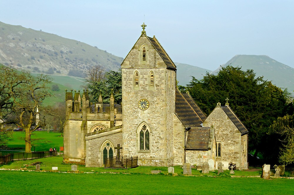 The Church of the Holy Cross, Ilam  by Rod Johnson