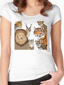 I Am Thankful For Felidae Women's Fitted Scoop T-Shirt