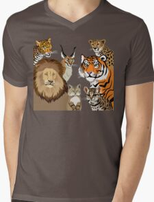 I Am Thankful For Felidae Mens V-Neck T-Shirt