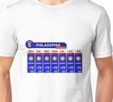 Philadelphia Weather Report Unisex T-Shirt