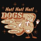"""Retro """"Hot Dogs"""" by SportsT-Shirts"""