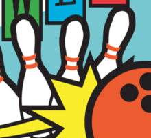 Retro Bowling Sticker