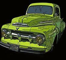 1951 Ford Pickup Truck by Samuel Sheats
