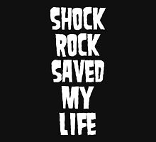 Shock Rock Saved My Life (White) Mens V-Neck T-Shirt