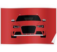 B8 Avant Simplistic design  Poster