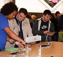 The Ipad at the new store launch in Bromley by Keith Larby