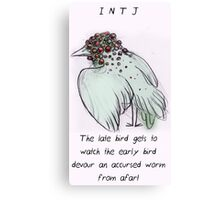 MBTI GHOSTS AND GHOULS- INTJ BIRD MONSTER MUTANT Canvas Print