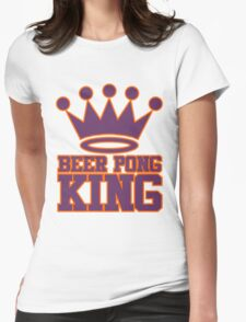 Beer Pong King Womens Fitted T-Shirt