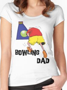 Bowling Dad Women's Fitted Scoop T-Shirt