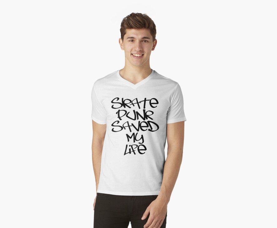 Skate Punk Saved My Life (Black) by georgestow