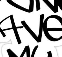 Skate Punk Saved My Life (Black) Sticker