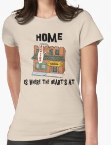 "Bowling ""Home Is Where The Heart's At"" Womens Fitted T-Shirt"