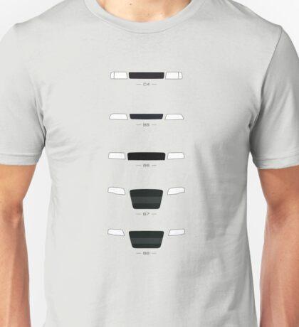 German Sedans (B8, B7, B6, B5, 4C) simple front end design Unisex T-Shirt
