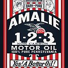 Amalie Motor Oil Retro Sign Reproduction by JohnOdz