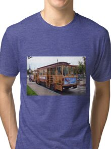 San Francisco Cable Car Tri-blend T-Shirt