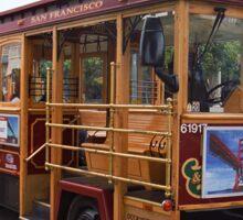 San Francisco Cable Car Sticker