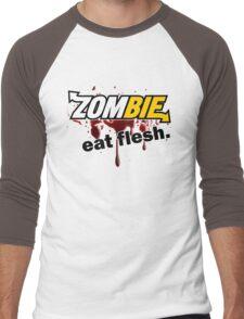Zombie - Eat Flesh Men's Baseball ¾ T-Shirt