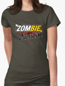 Zombie - Eat Flesh Womens Fitted T-Shirt