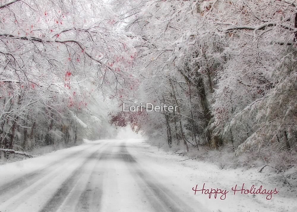 Happy Holidays Greeting Card by Lori Deiter