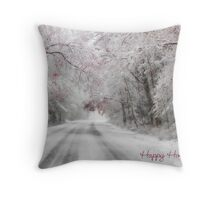 Happy Holidays Greeting Card Throw Pillow