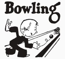 Bowling Vintage Retro Kids Clothes