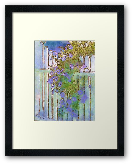 Petunias at the Gate by Kenneth Hoffman