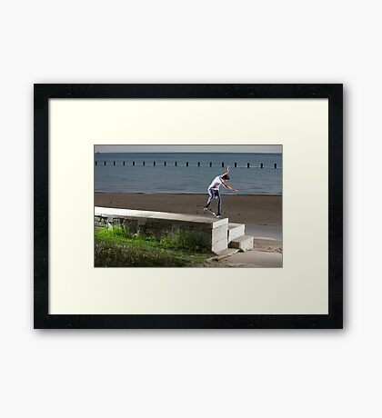 Mikey Taylor - Sw 180 Nosegrind - Photo: Sam McGuire Framed Print