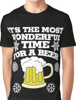 It's the most wonderful time for a beer christmas party Graphic T-Shirt
