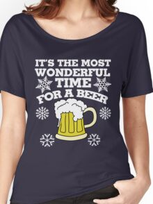 It's the most wonderful time for a beer christmas party Women's Relaxed Fit T-Shirt
