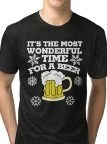 It's the most wonderful time for a beer christmas party Tri-blend T-Shirt