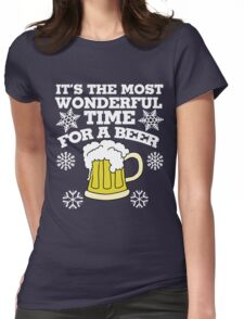 It's the most wonderful time for a beer christmas party Womens Fitted T-Shirt