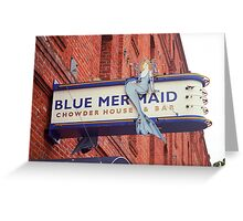 San Francisco Blue Memaid Greeting Card