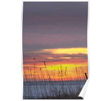 Colorful Snowy Winter Midwest Sunset Poster