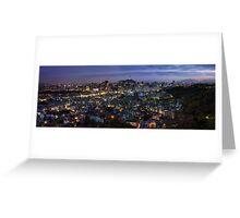 Seoul Panorama Night Greeting Card