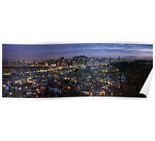 Seoul Panorama Night Poster