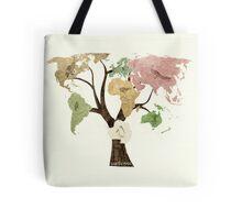 Earth Tree (Birds) Tote Bag