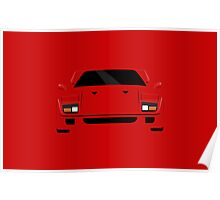 Italian supercar simplistic front end design Poster