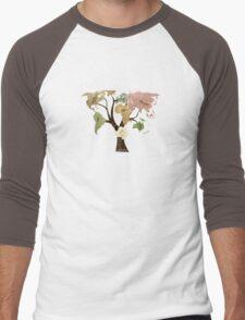 Earth Tree (Birds) Men's Baseball ¾ T-Shirt