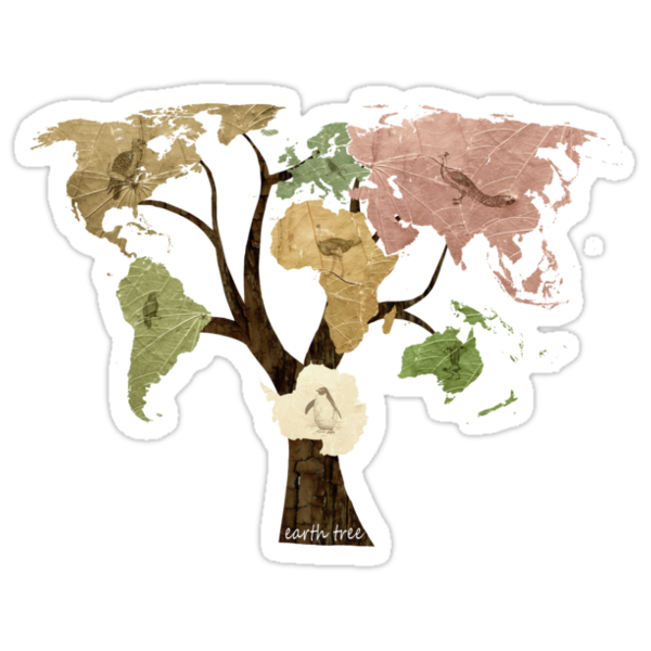 Earth Tree (Birds) by BelleFlores