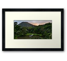 K. Hawaii  Mountain Framed Print