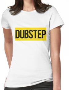 Dubstep (Yellow) Womens Fitted T-Shirt