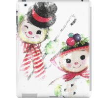 Vintage Snowman family for Christmas iPad Case/Skin