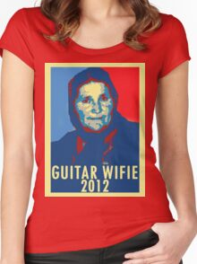 Guitar Wifie for President 2012 Women's Fitted Scoop T-Shirt