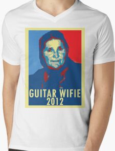 Guitar Wifie for President 2012 Mens V-Neck T-Shirt