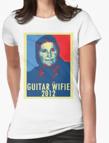 Guitar Wifie for President 2012 Womens Fitted T-Shirt